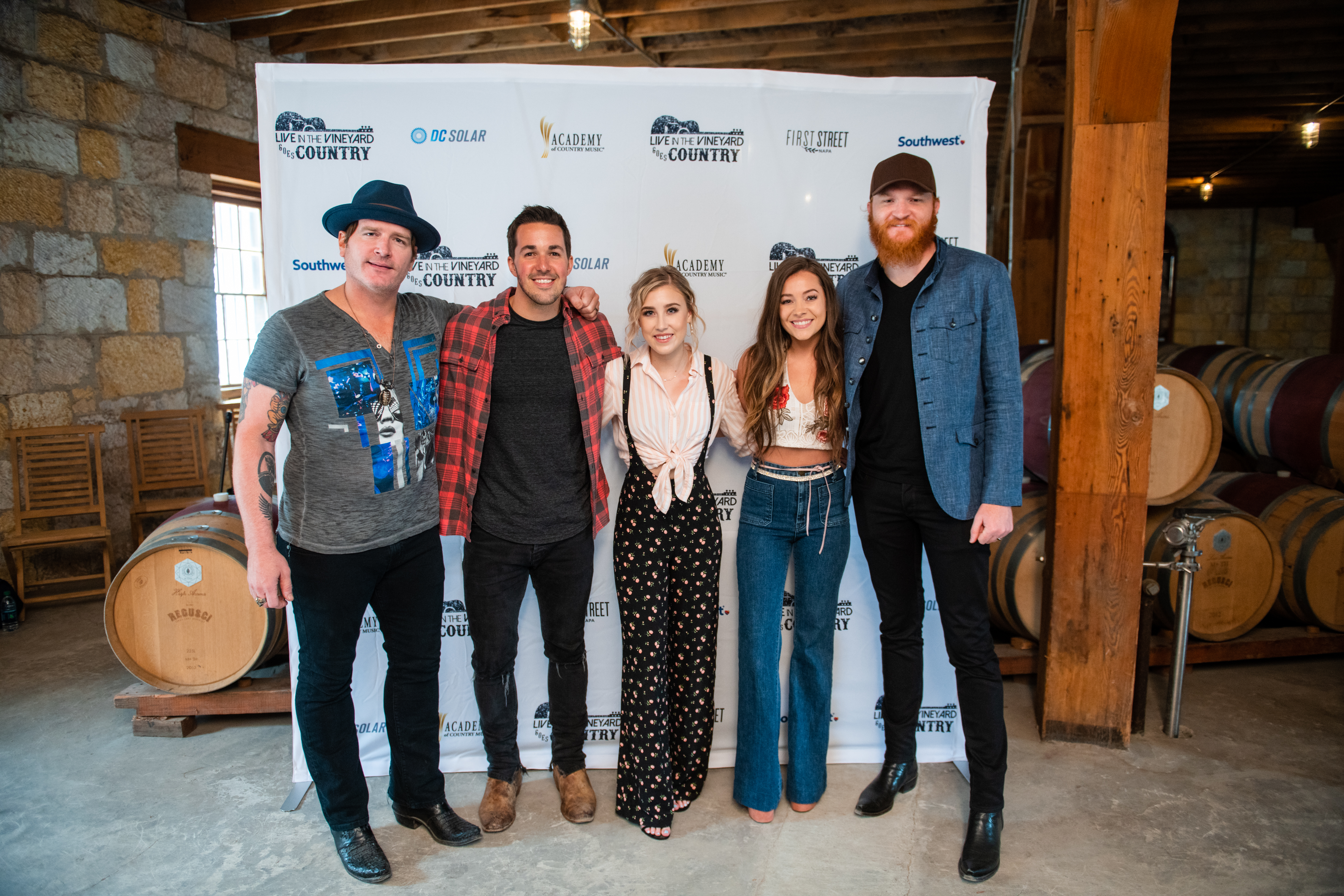 Live In The Vineyard Maddie and Tae Eric Paslay Cale Dodds Jerrod Niemann