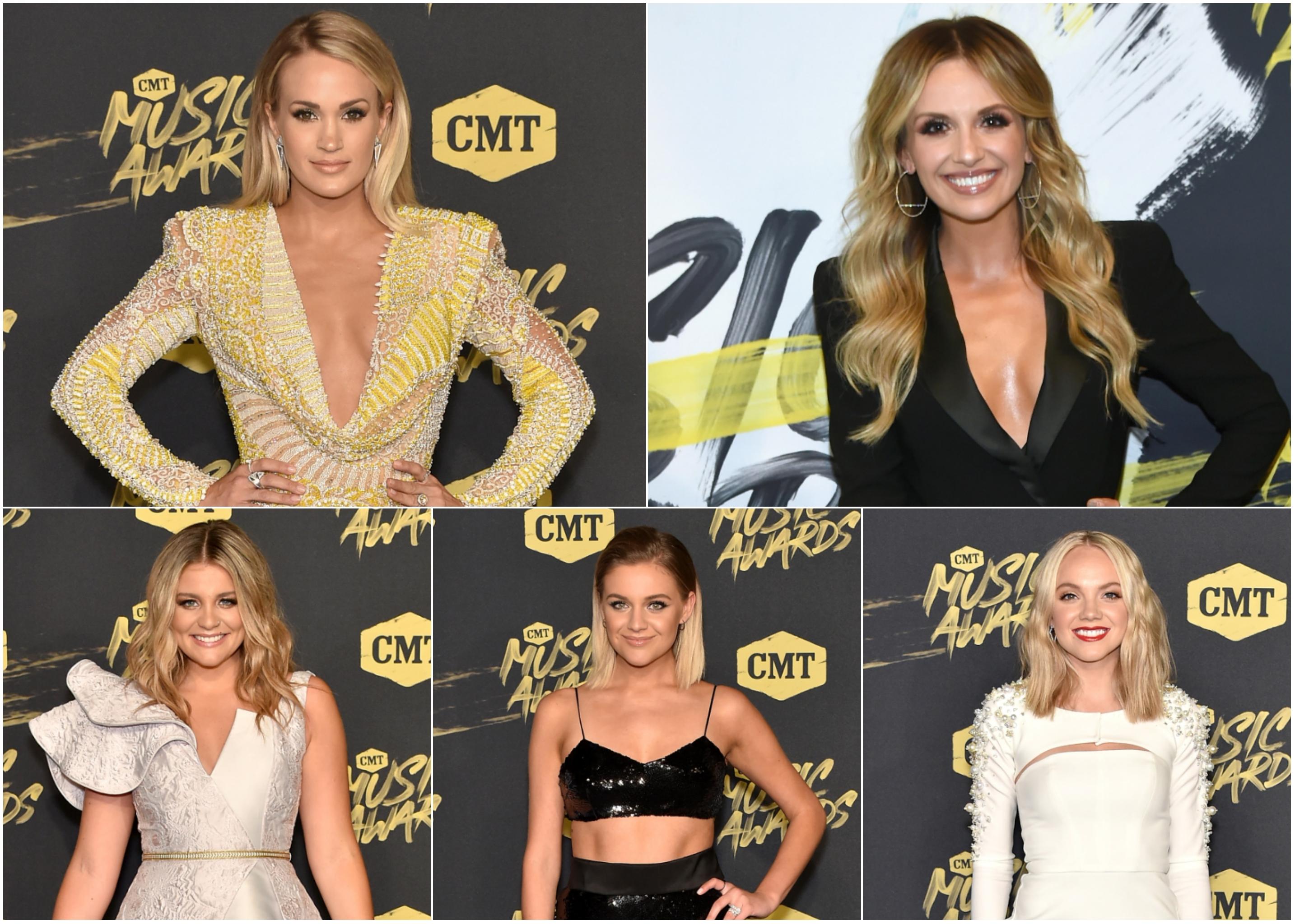 Carrie Underwood Carly Pearce Lauren Alaina Kelsea Ballerini Danielle Bradbery CMT Awards