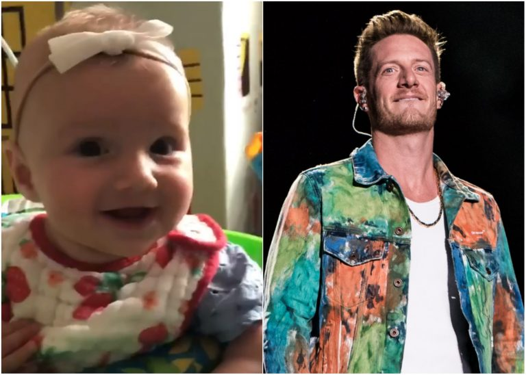Tyler Hubbard's Daughter Giggles Over Doggy Playtime