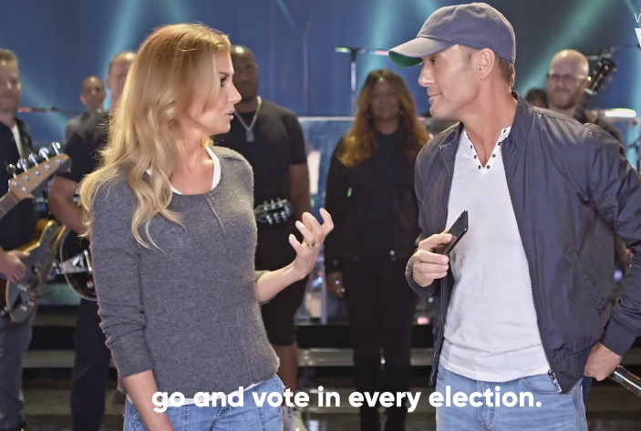 Tim McGraw and Faith Hill Encourage Voter Registration in New PSA