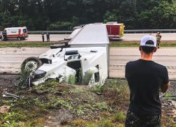 Granger Smith's Semi Crew Is Safe After Semi Overturns on Highway