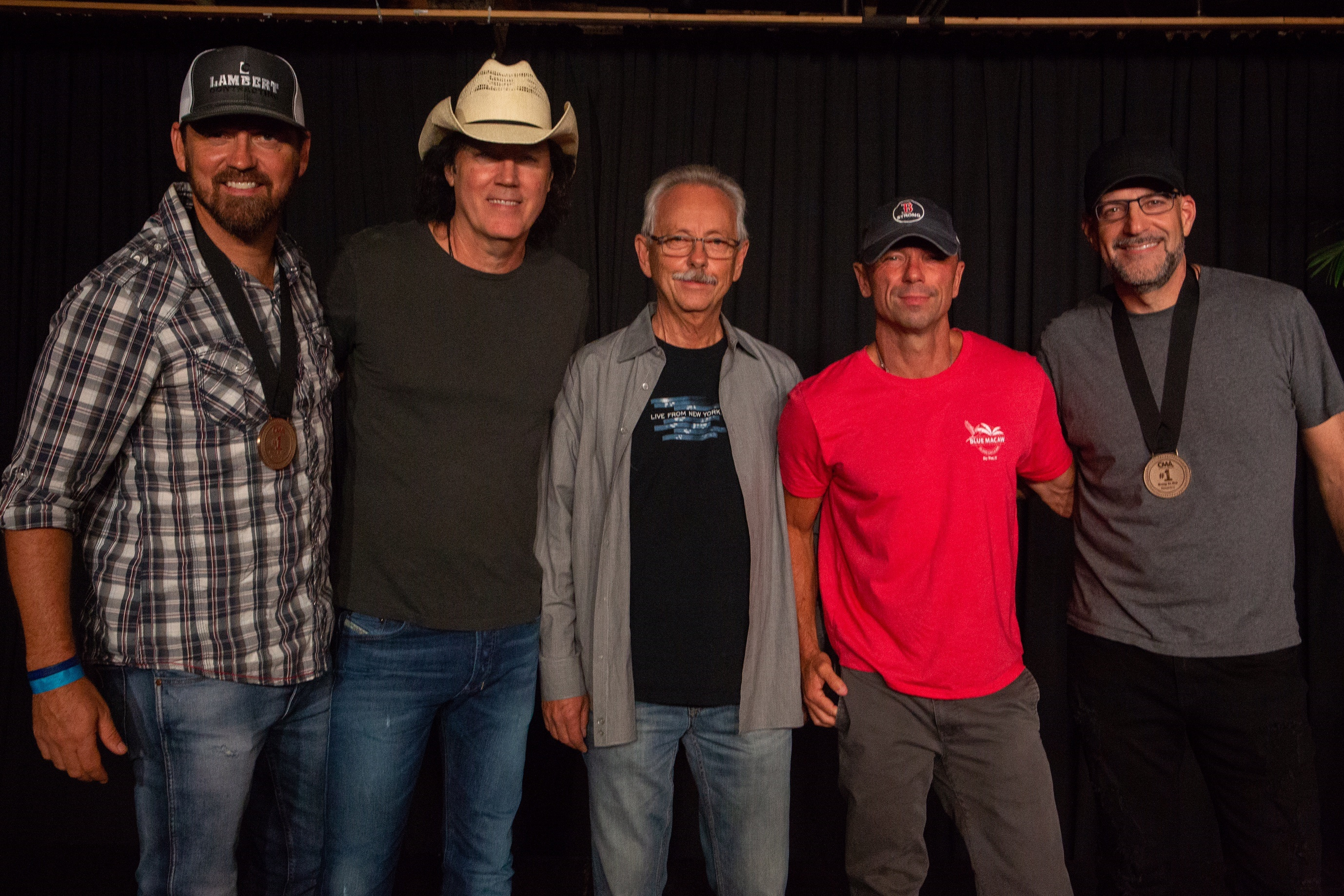 L to R: Jimmy Yeary, David Lee Murphy, Buddy Cannon, Kenny Chesney, Chris Stevens