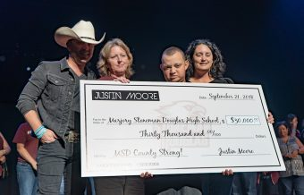 Justin Moore Donates $30K to Parkland's MSD Fund