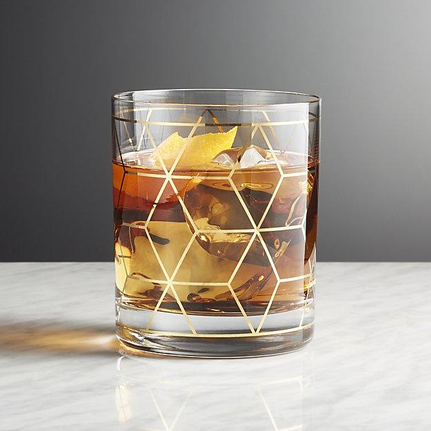 Jaxson Double Old-Fashioned Glasses; Courtesy of Crate & Barrel