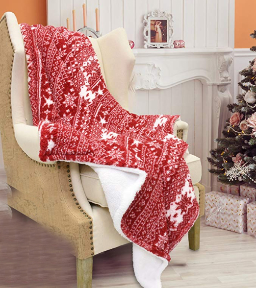 cozy, Christmas, blanket