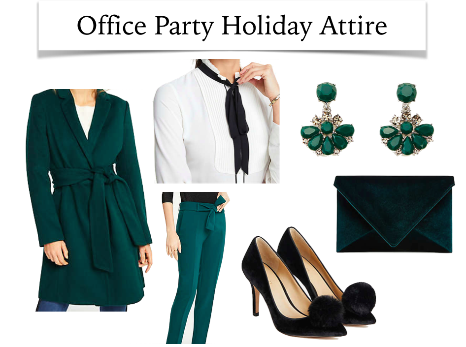 9833ebbdfc Many holiday office parties take place during the week after work hours and  you won t always have time to go home and change before the party begins.