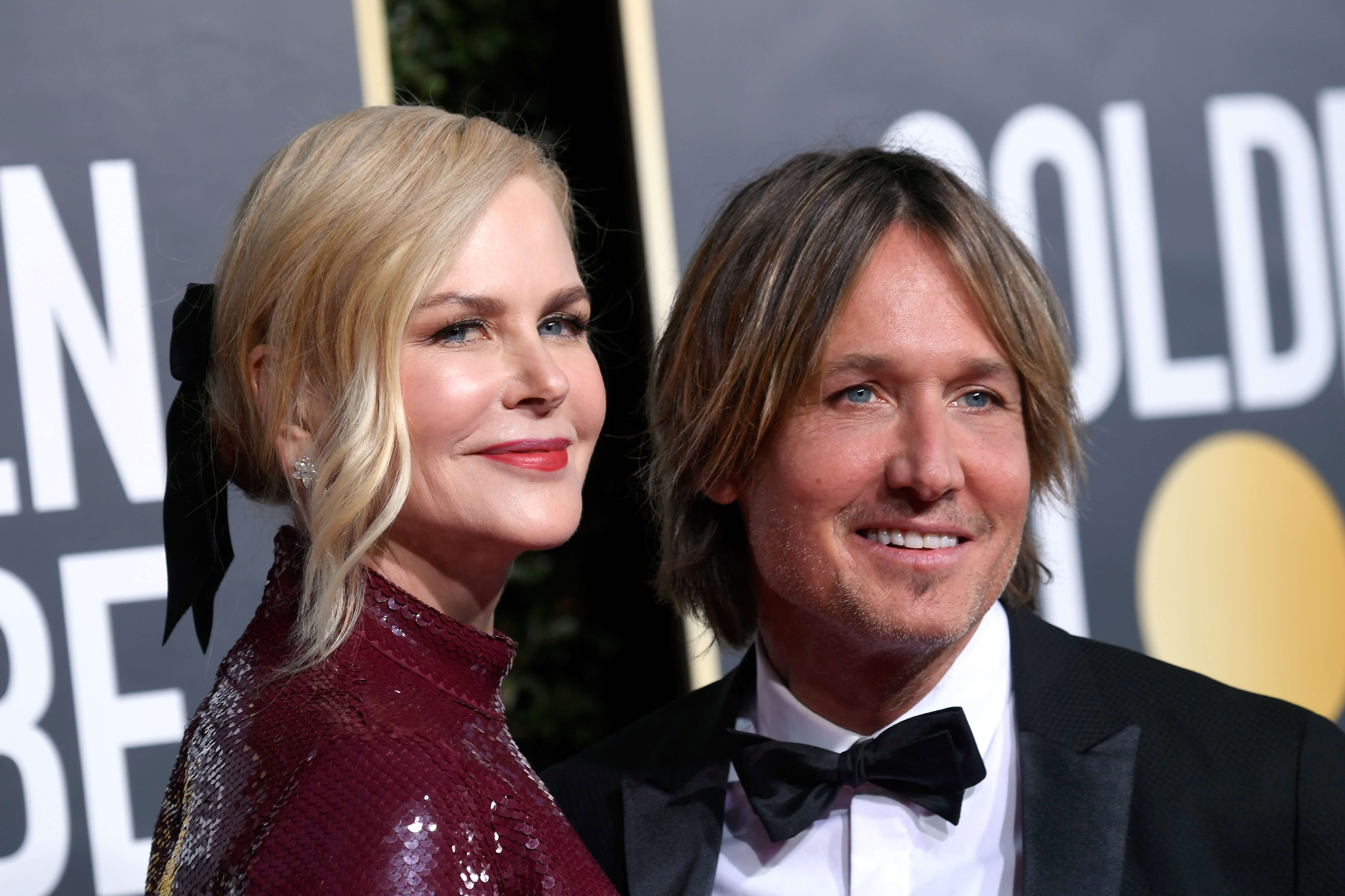 BEVERLY HILLS, CA - JANUARY 06: Nicole Kidman (L) and Keith Urban attend the 76th Annual Golden Globe Awards at The Beverly Hilton Hotel on January 6, 2019 in Beverly Hills, California. (Photo by Frazer Harrison/Getty Images)