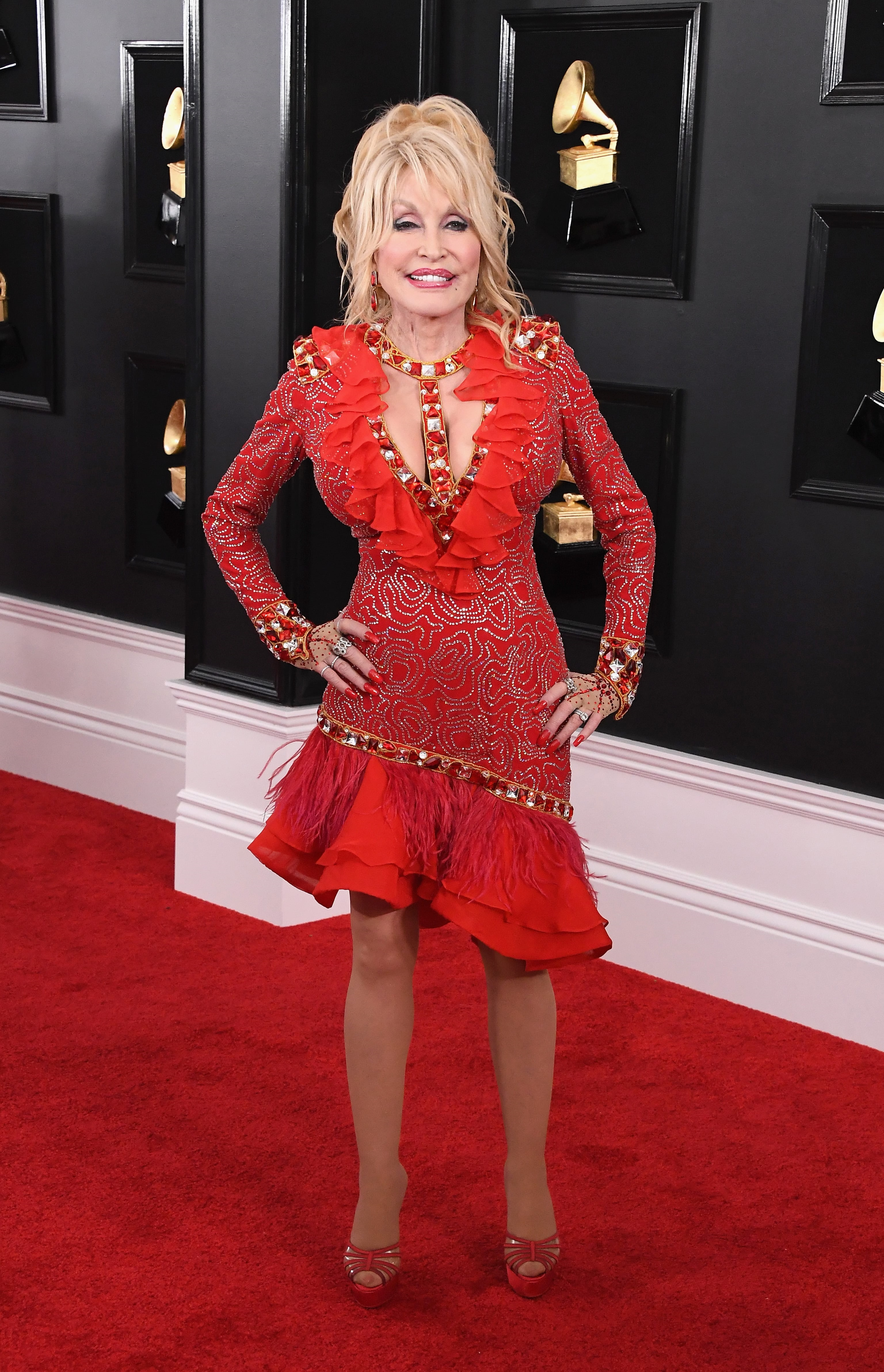 LOS ANGELES, CA - FEBRUARY 10: Dolly Parton attends the 61st Annual GRAMMY Awards at Staples Center on February 10, 2019 in Los Angeles, California. (Photo by Steve Granitz/WireImage)