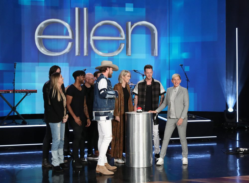 Ellen Surprises Florida Georgia Line's Tyler Hubbard and Pregnant Wife Hayley with Gender Reveal