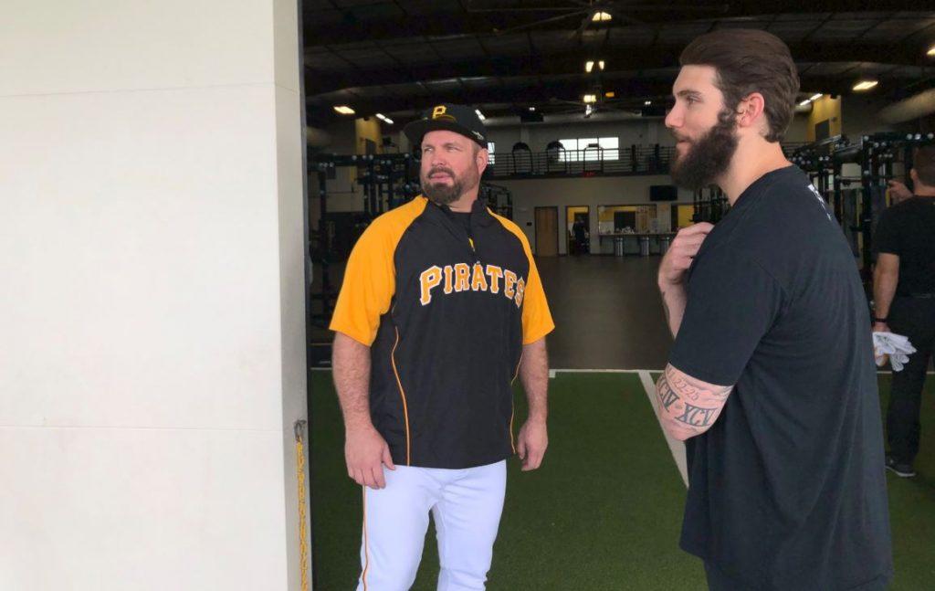Garth Brooks; Photo courtesy of Pittsburgh Pirates Twitter