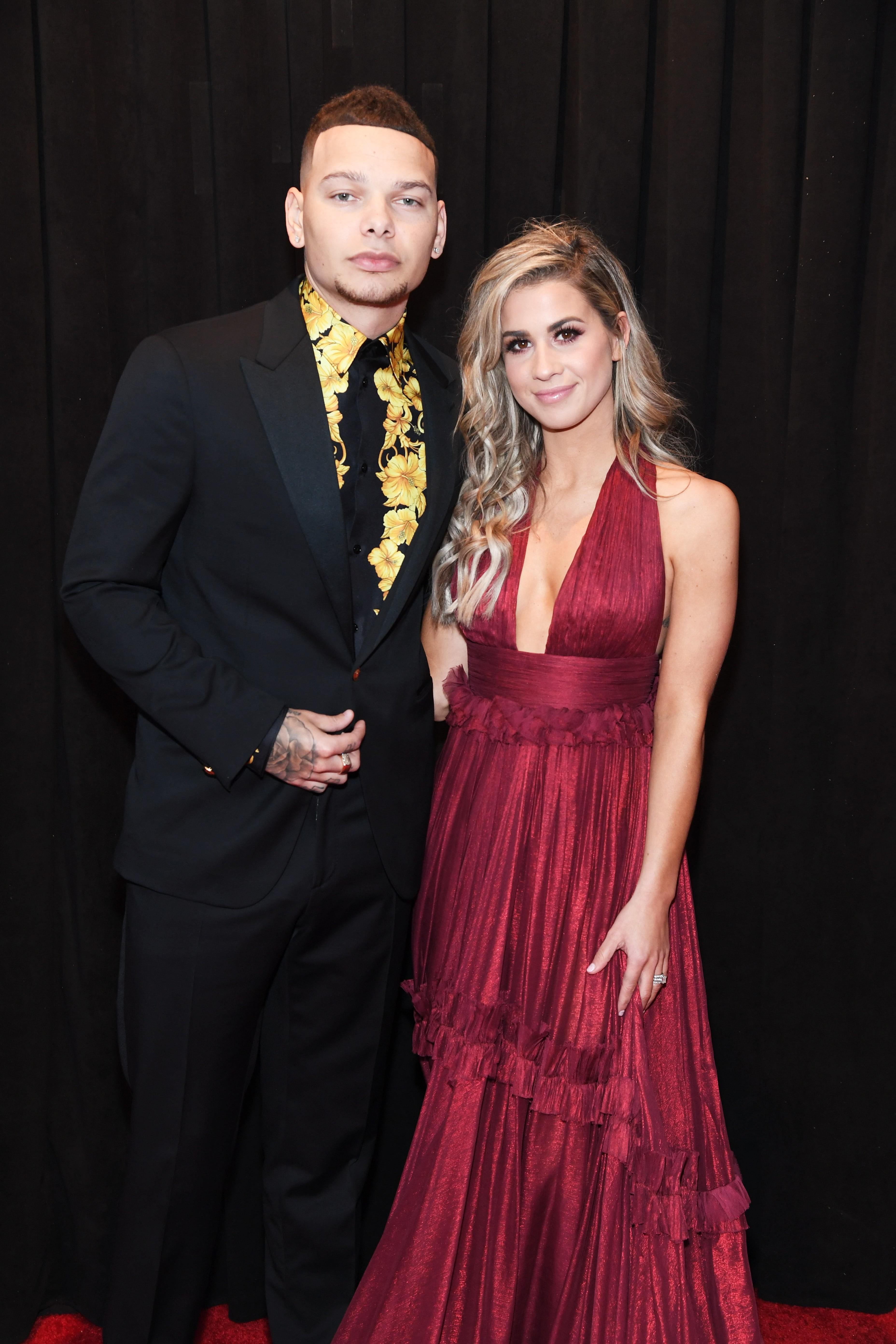 LOS ANGELES, CA - FEBRUARY 10: Kane Brown (L) and Katelyn Jae attend the 61st Annual GRAMMY Awards at Staples Center on February 10, 2019 in Los Angeles, California. (Photo by Kevin Mazur/Getty Images for The Recording Academy)