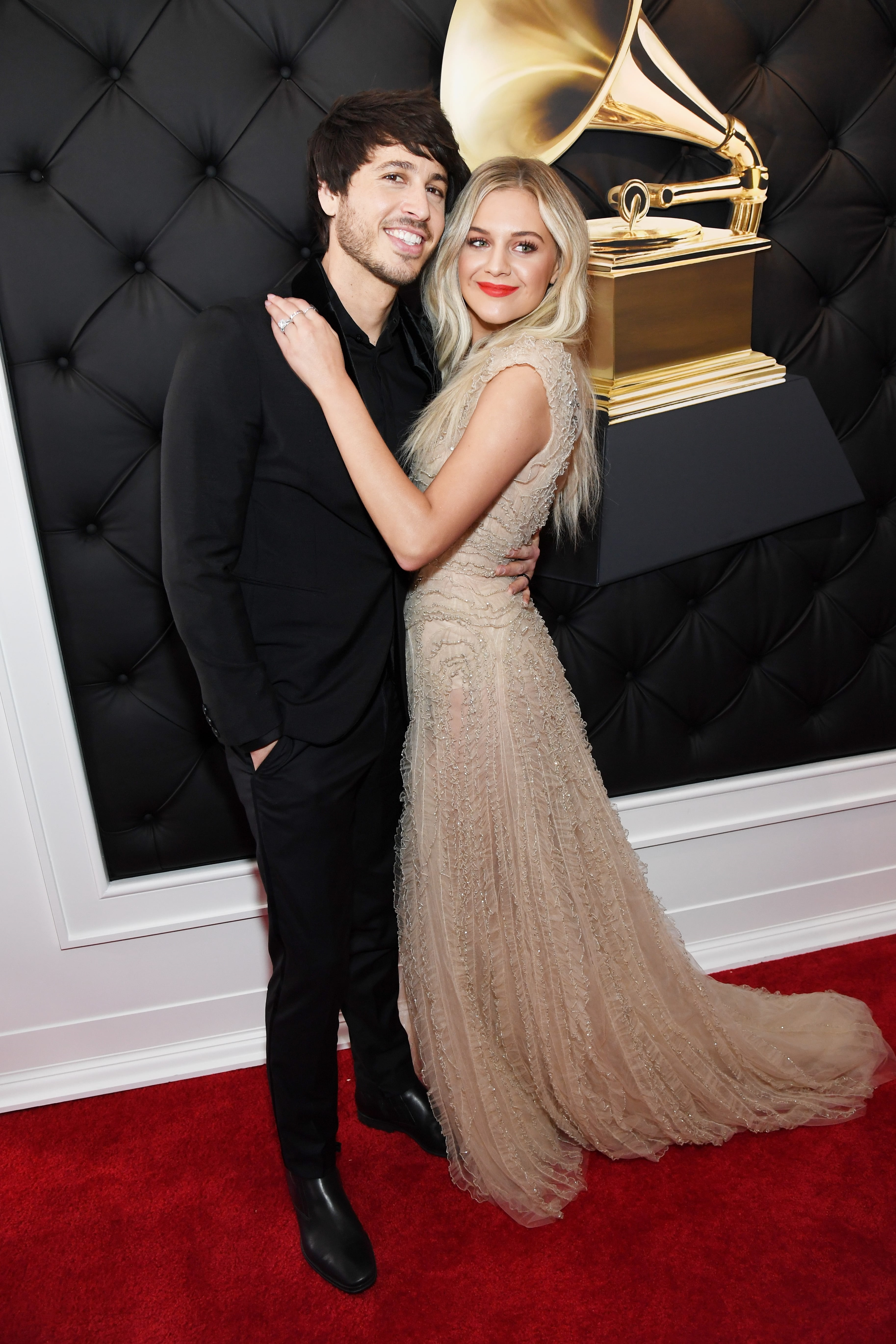 LOS ANGELES, CA - FEBRUARY 10: Morgan Evans (L) and Kelsea Ballerini attend the 61st Annual GRAMMY Awards at Staples Center on February 10, 2019 in Los Angeles, California. (Photo by Kevin Mazur/Getty Images for The Recording Academy)