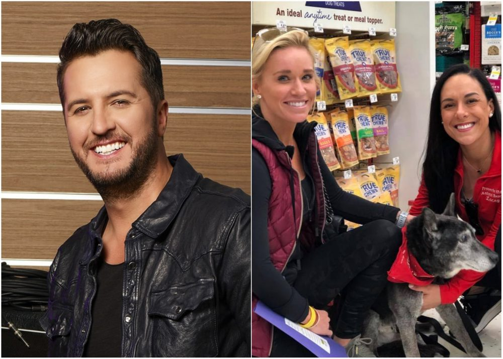 Luke Bryan Adopts 18-Year-Old Dog From Nashville Rescue