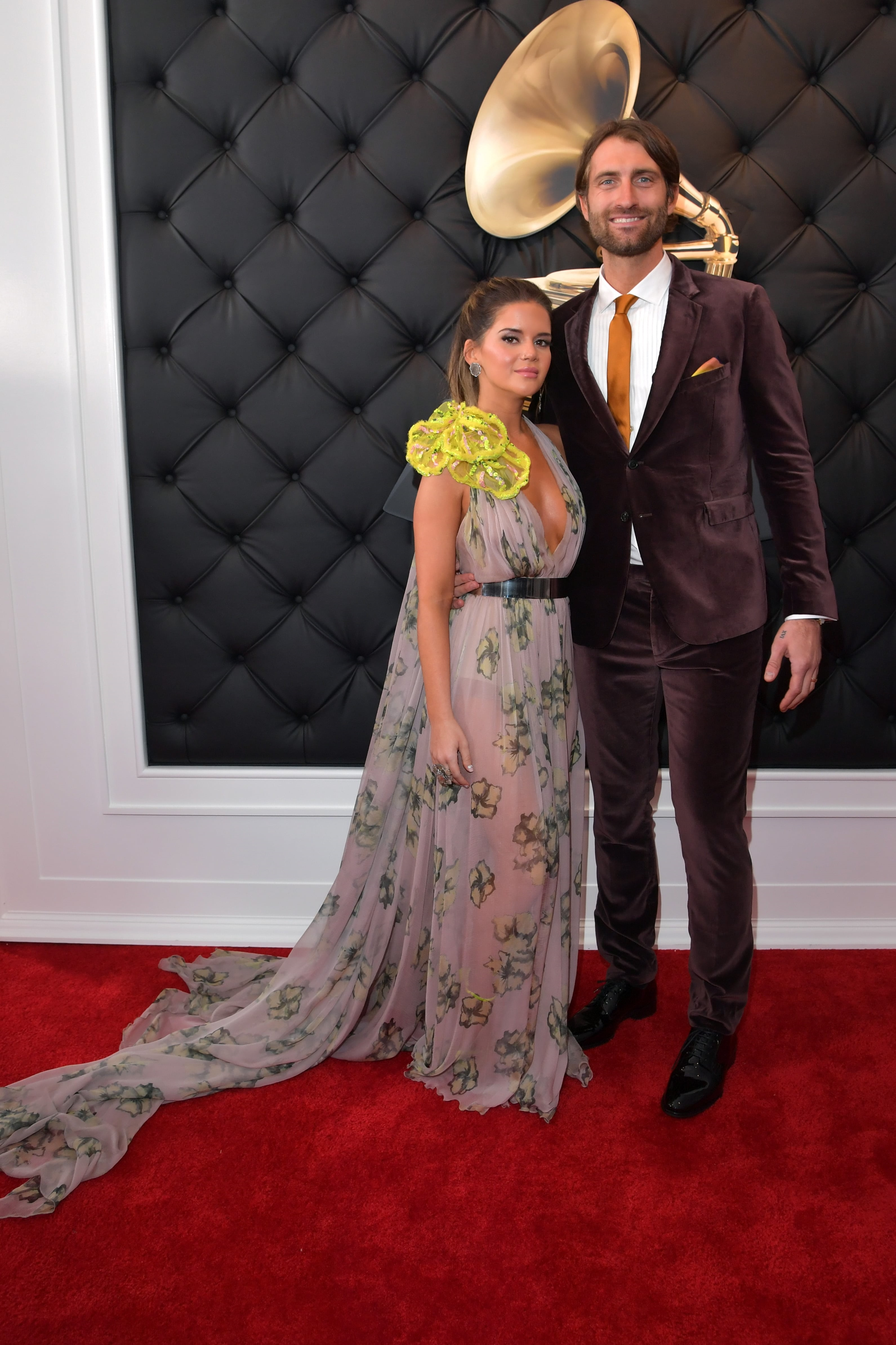 LOS ANGELES, CA - FEBRUARY 10: (L-R) Maren Morris and Ryan Hurd attend the 61st Annual GRAMMY Awards at Staples Center on February 10, 2019 in Los Angeles, California. (Photo by Lester Cohen/Getty Images for The Recording Academy)
