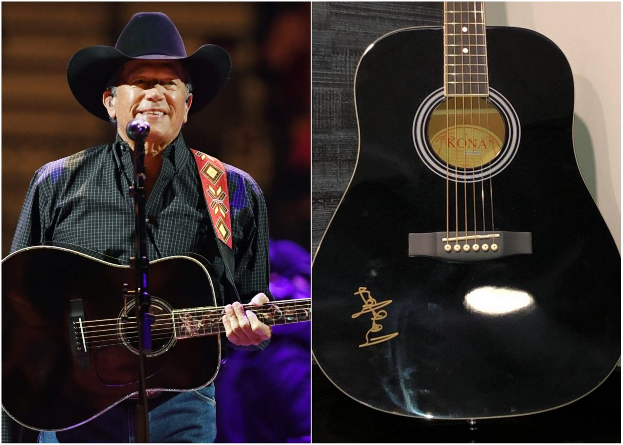 Enter for a Chance to WIN A Guitar Autographed by George Strait