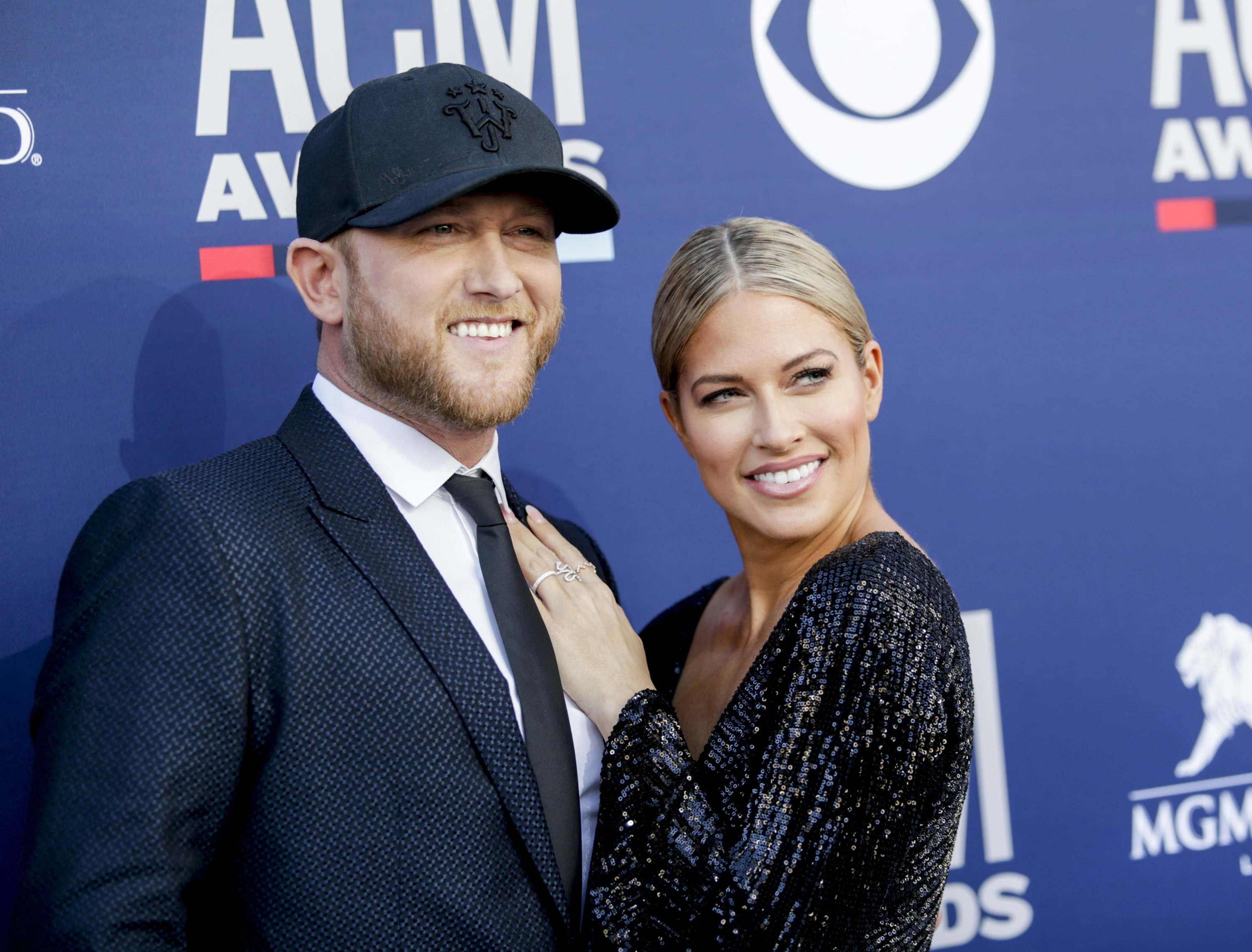 Cole Swindell and Barbie Blank attends the 54TH ACADEMY OF COUNTRY MUSIC AWARDS, to broadcast LIVE from MGM Grand Garden Arena in Las Vegas Sunday, April 7, 2019 (8:00-11:00 PM, ET/delayed PT) on the CBS Television Network. Photo: Francis Specker/CBS ©2019 CBS Broadcasting, Inc. All Rights Reserved.