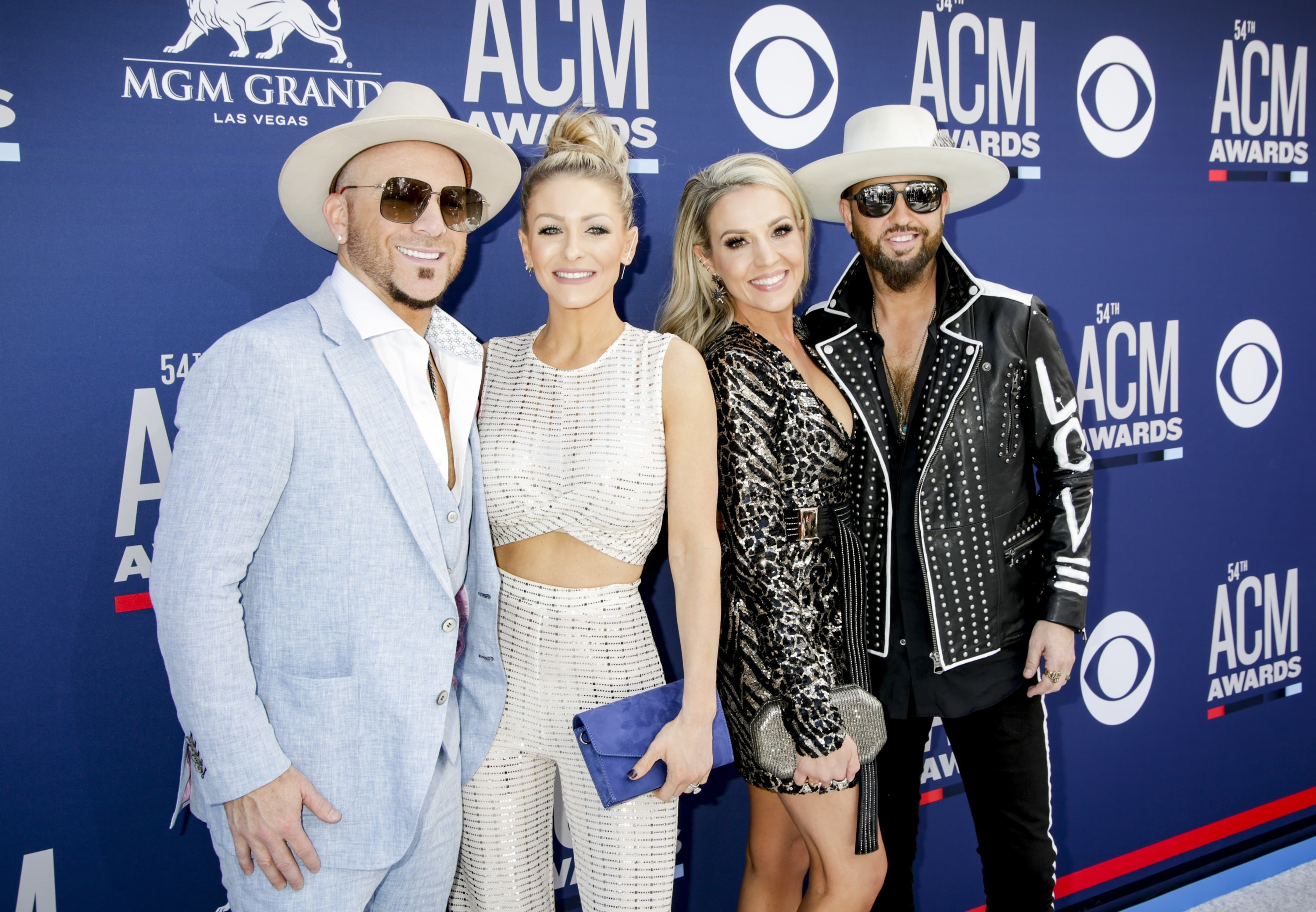 Country music duo Locash attends the 54TH ACADEMY OF COUNTRY MUSIC AWARDS, to broadcast LIVE from MGM Grand Garden Arena in Las Vegas Sunday, April 7, 2019 (8:00-11:00 PM, ET/delayed PT) on the CBS Television Network. Photo: Francis Specker/CBS ©2019 CBS Broadcasting, Inc. All Rights Reserved.