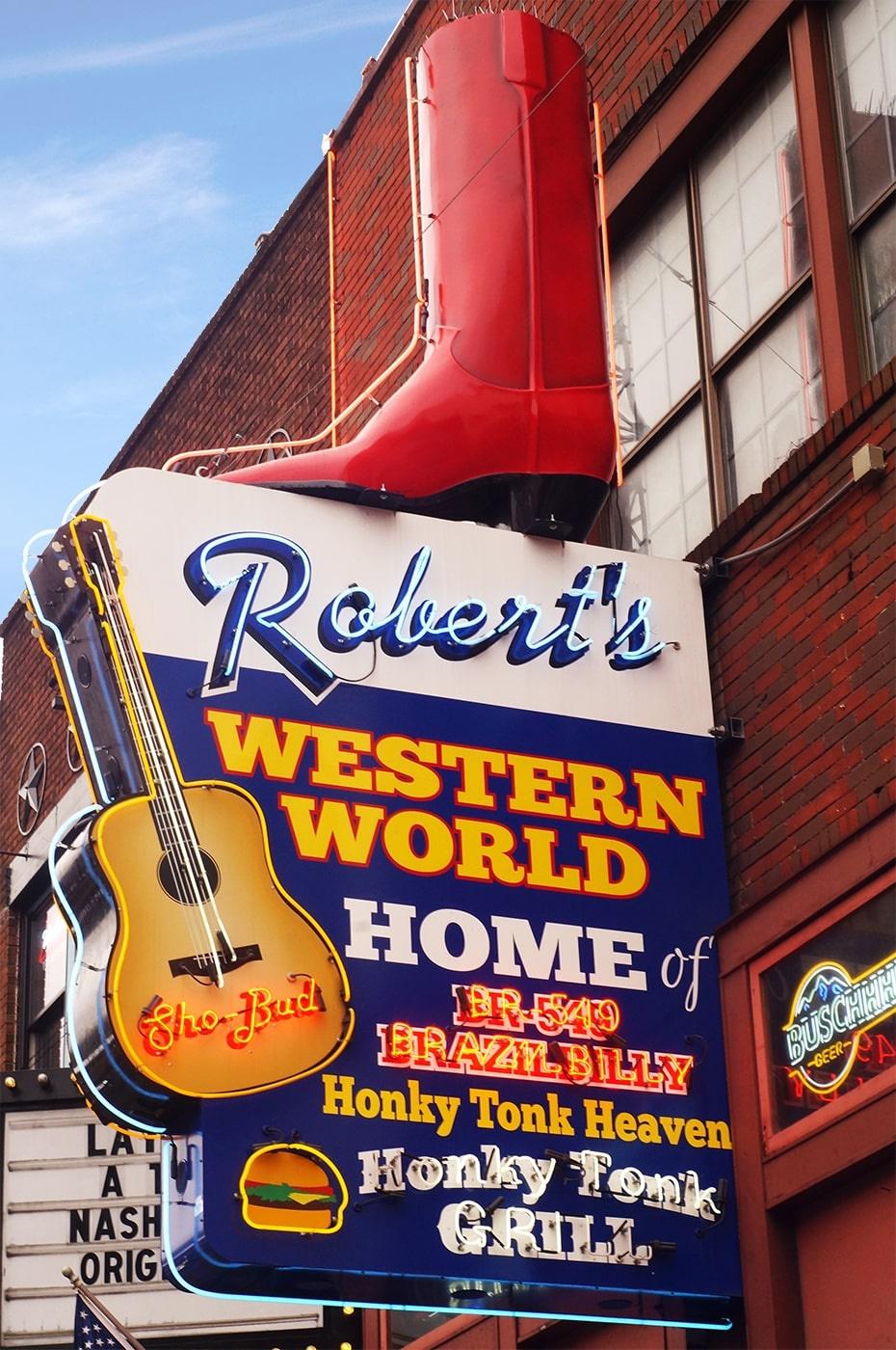 Robert's Western World; Photo courtesy of Music City Media House