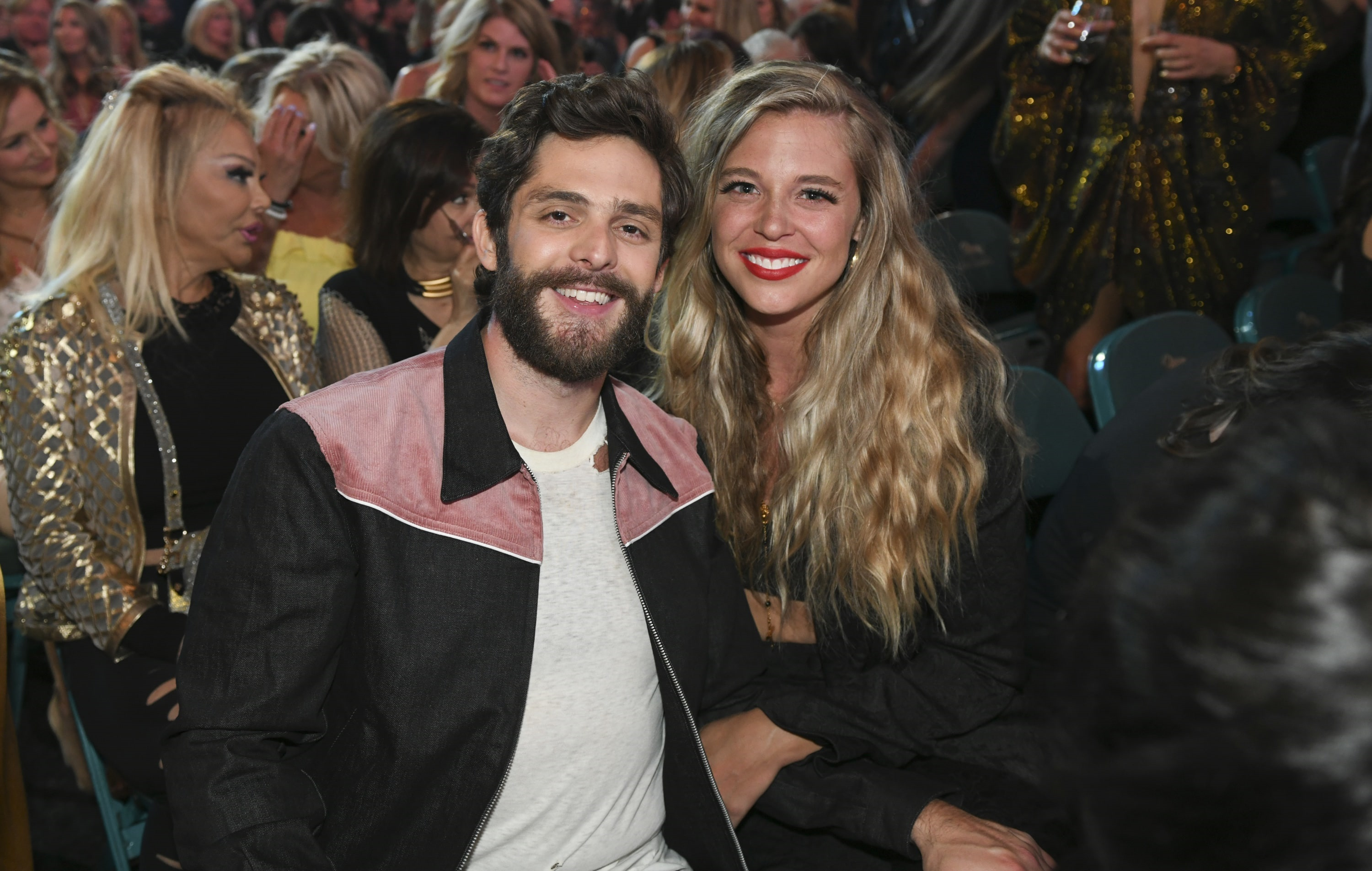Thomas Rhett and Lauren Akins during the 54TH ACADEMY OF COUNTRY MUSIC AWARDS, to broadcast LIVE from MGM Grand Garden Arena in Las Vegas Sunday, April 7, 2019 (8:00-11:00 PM, ET/delayed PT) on the CBS Television Network. Photo: Sam Morris/CBS ©2019 CBS Broadcasting, Inc. All Rights Reserved