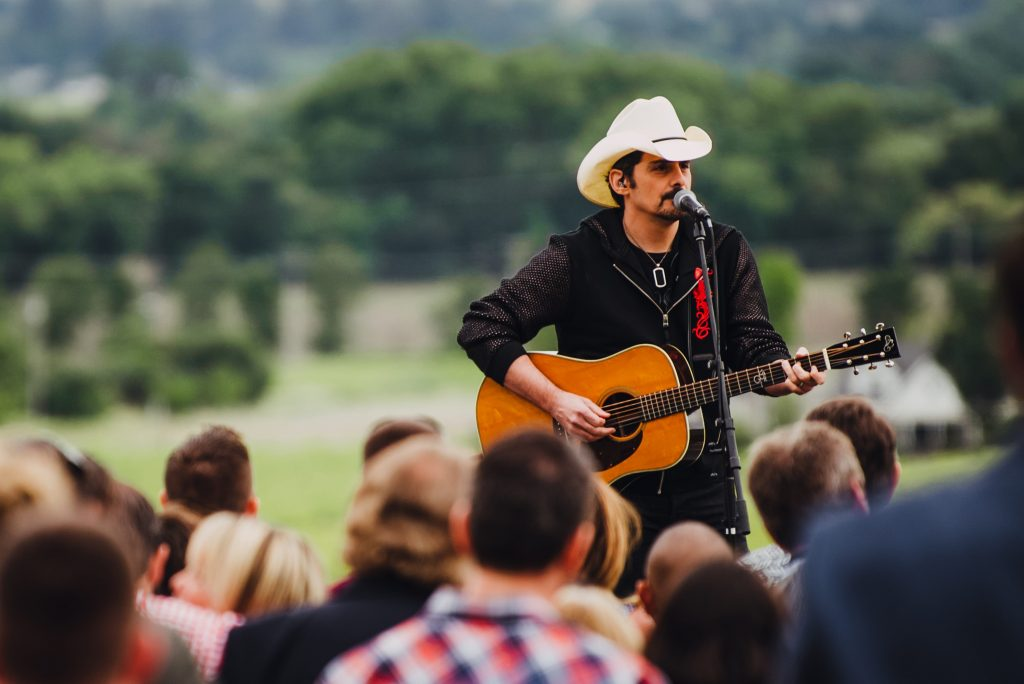 Brad Paisley; Photo courtesy of Live in the Vineyard (2019) Goes Country
