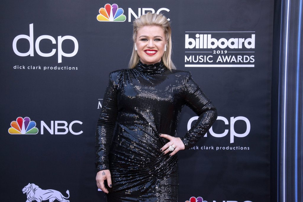 LAS VEGAS, NEVADA - MAY 01: Kelly Clarkson attends the 2019 Billboard Music Award at MGM Grand Garden Arena on May 1, 2019 at MGM Grand Garden Arena in Las Vegas, Nevada. (Photo by Daniel Torok/Patrick McMullan via Getty Images)