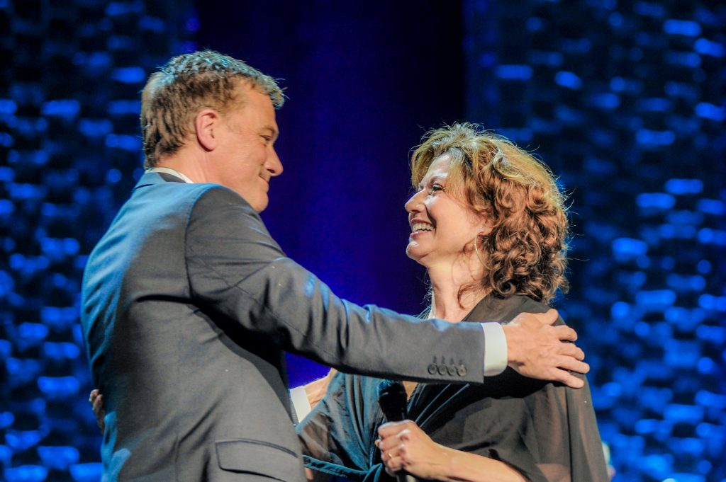 Michael W. Smith and Amy Grant; Photo by: Gretchen Demonbreun
