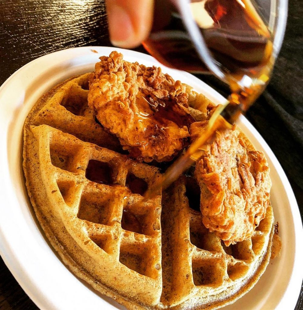 The Southern V Chik'n and Waffle; Courtesy of The Southern V