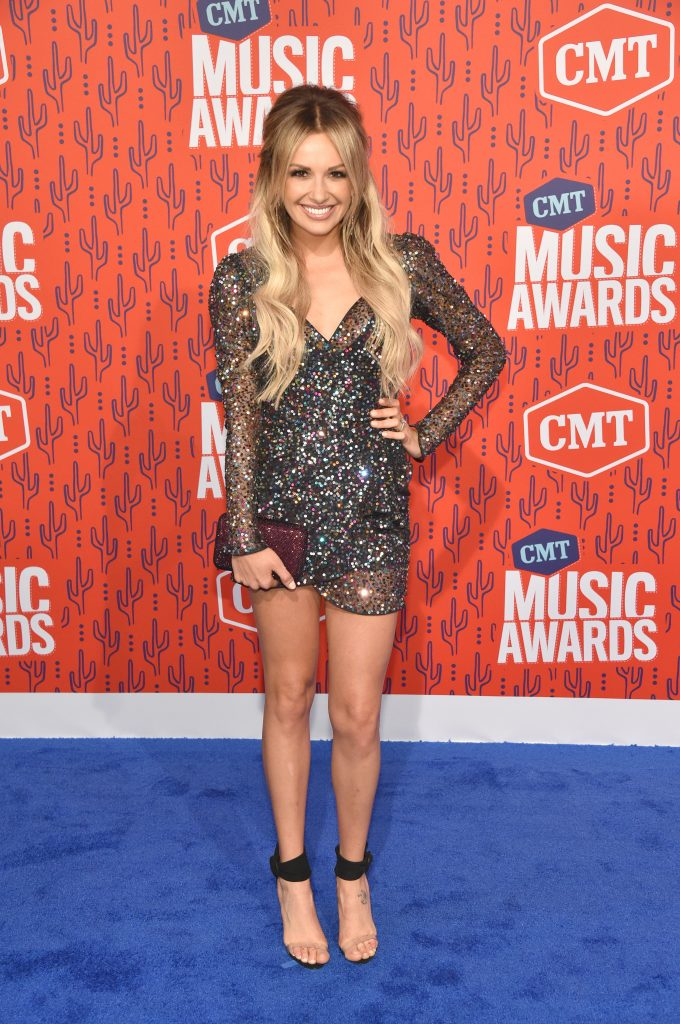 NASHVILLE, TENNESSEE - JUNE 05: Carly Pearce attends the 2019 CMT Music Awards at Bridgestone Arena on June 05, 2019 in Nashville, Tennessee. (Photo by John Shearer/WireImage,)