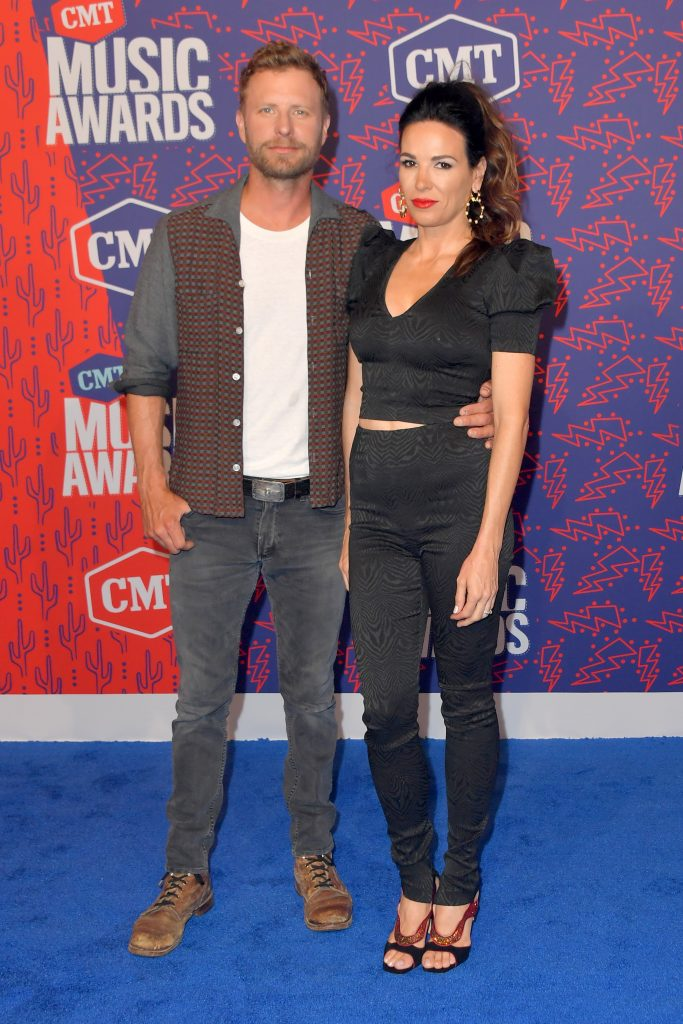 NASHVILLE, TENNESSEE - JUNE 05: Dierks Bentley and Cassidy Black attend the 2019 CMT Music Awards - Arrivals at Bridgestone Arena on June 05, 2019 in Nashville, Tennessee. (Photo by Michael Loccisano/Getty Images)