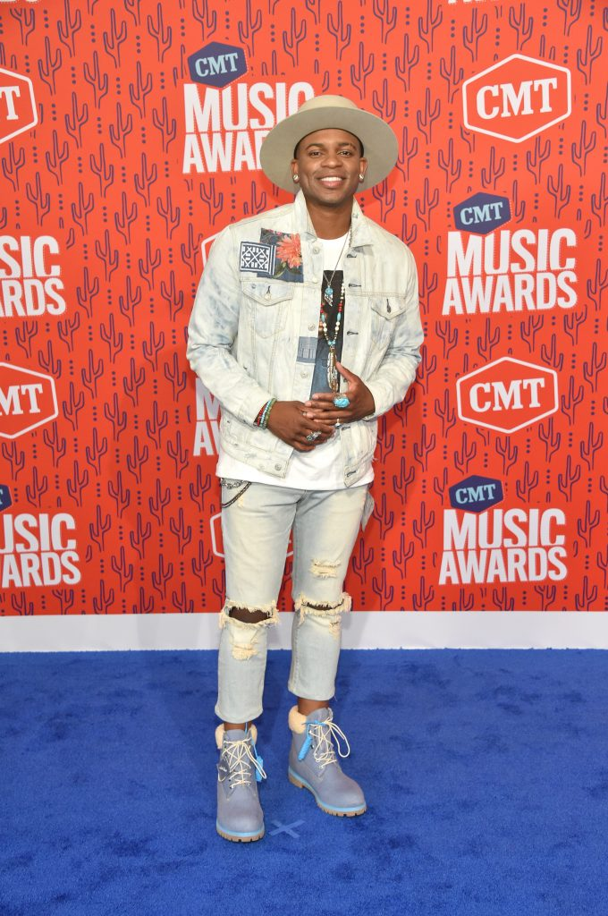 NASHVILLE, TENNESSEE - JUNE 05: Jimmie Allen attends the 2019 CMT Music Awards at Bridgestone Arena on June 05, 2019 in Nashville, Tennessee. (Photo by John Shearer/WireImage,)