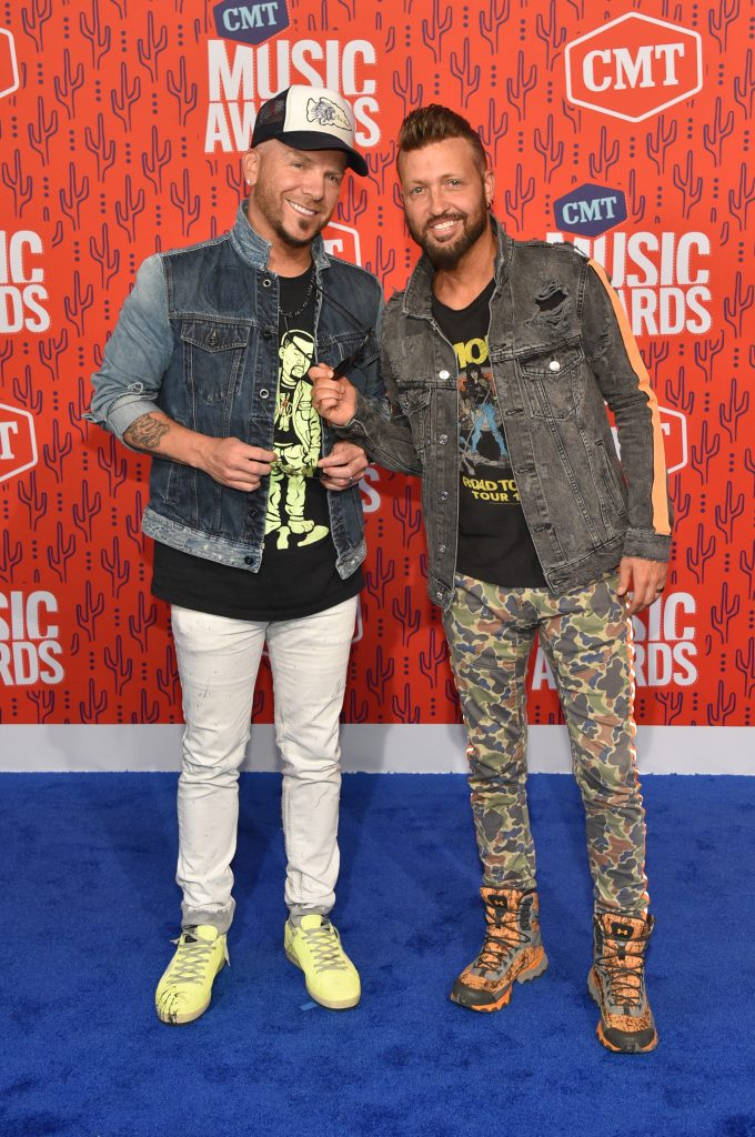 NASHVILLE, TENNESSEE - JUNE 05: Chris Lucas and Preston Brust of LOCASH attend the 2019 CMT Music Awards at Bridgestone Arena on June 05, 2019 in Nashville, Tennessee. (Photo by John Shearer/WireImage,)