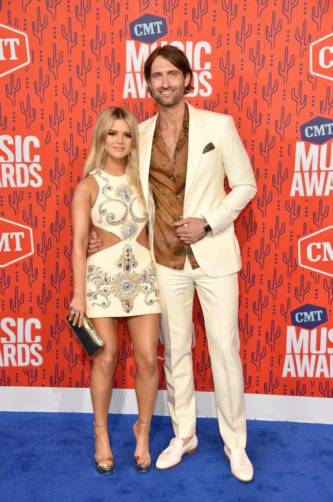NASHVILLE, TENNESSEE - JUNE 05: Maren Morris and Ryan Hurd attend the 2019 CMT Music Award at Bridgestone Arena on June 05, 2019 in Nashville, Tennessee. (Photo by John Shearer/WireImage,)