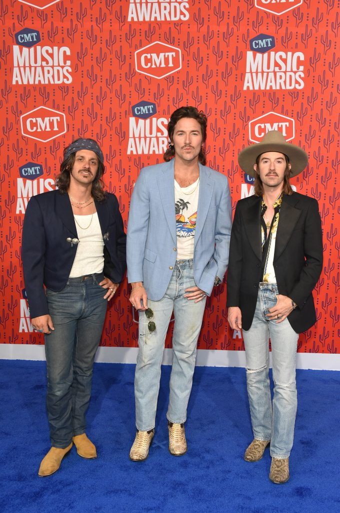 NASHVILLE, TENNESSEE - JUNE 05: Cameron Duddy, Mark Wystrach and Jess Carson attend the 2019 CMT Music Awards at Bridgestone Arena on June 05, 2019 in Nashville, Tennessee. (Photo by John Shearer/WireImage,)