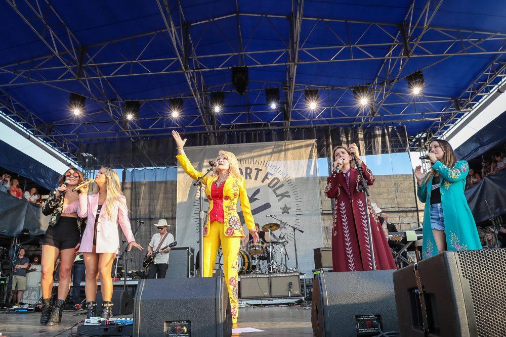 Dolly Parton Joins Brandi Carlile for Surprise Set at Newport Folk Festival