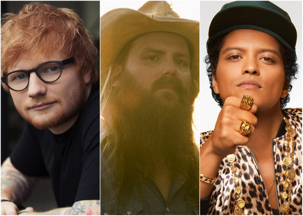 Ed Sheeran, Chris Stapleton and Bruno Mars Go Glam Rock for 'Blow'