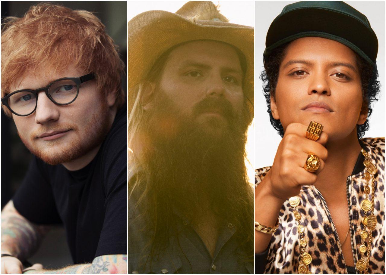 Ed Sheeran, Chris Stapleton and Bruno Mars Go Glam Rock for 'Blow'