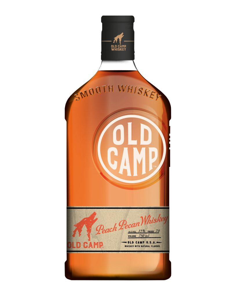 Old Camp Peach Pecan Whiskey; Photo courtesy of Old Camp Whiskey
