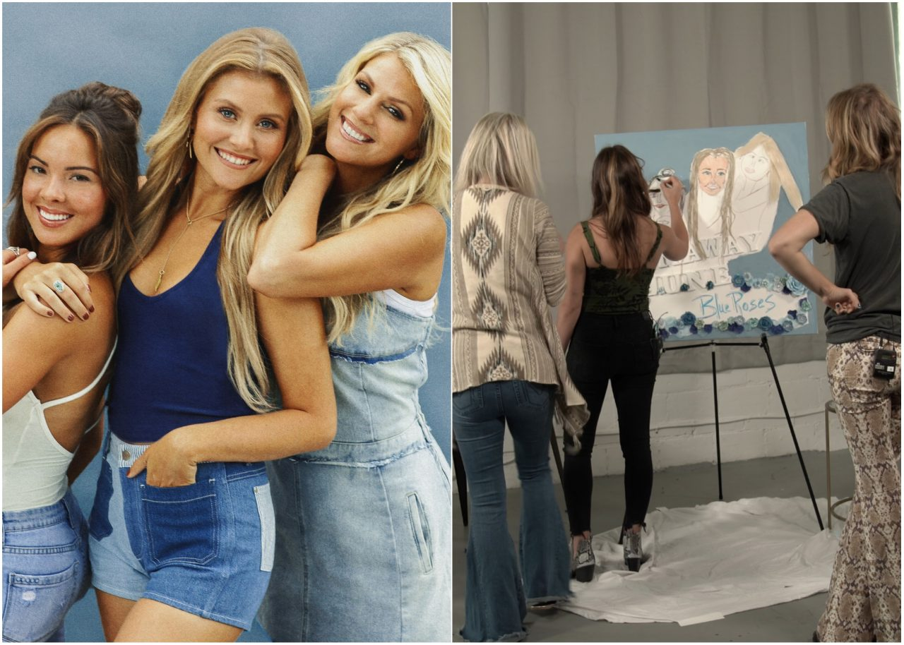 Enter For A Chance to WIN a Runaway June Original Painting of 'Blue Roses' Album Art