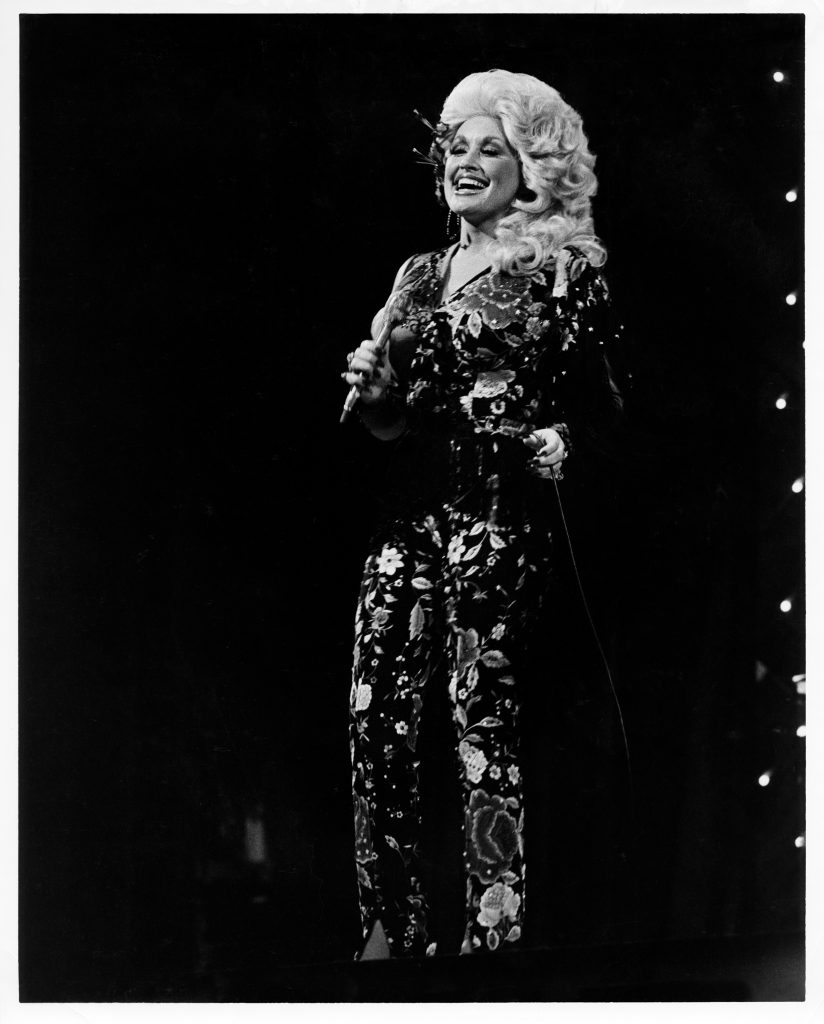 Dolly Parton performs during the Grand Ole Opry's 52nd Birthday, Oct. 10, 1977; Photo Courtesy of Grand Ole Opry archives, photographer Les Leverett