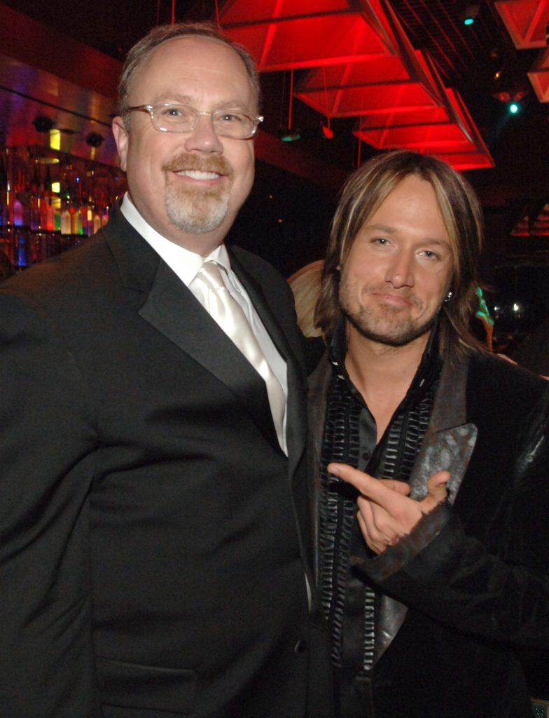 Mike Dungan with Keith Urban; Photo courtesy of UMG Nashville