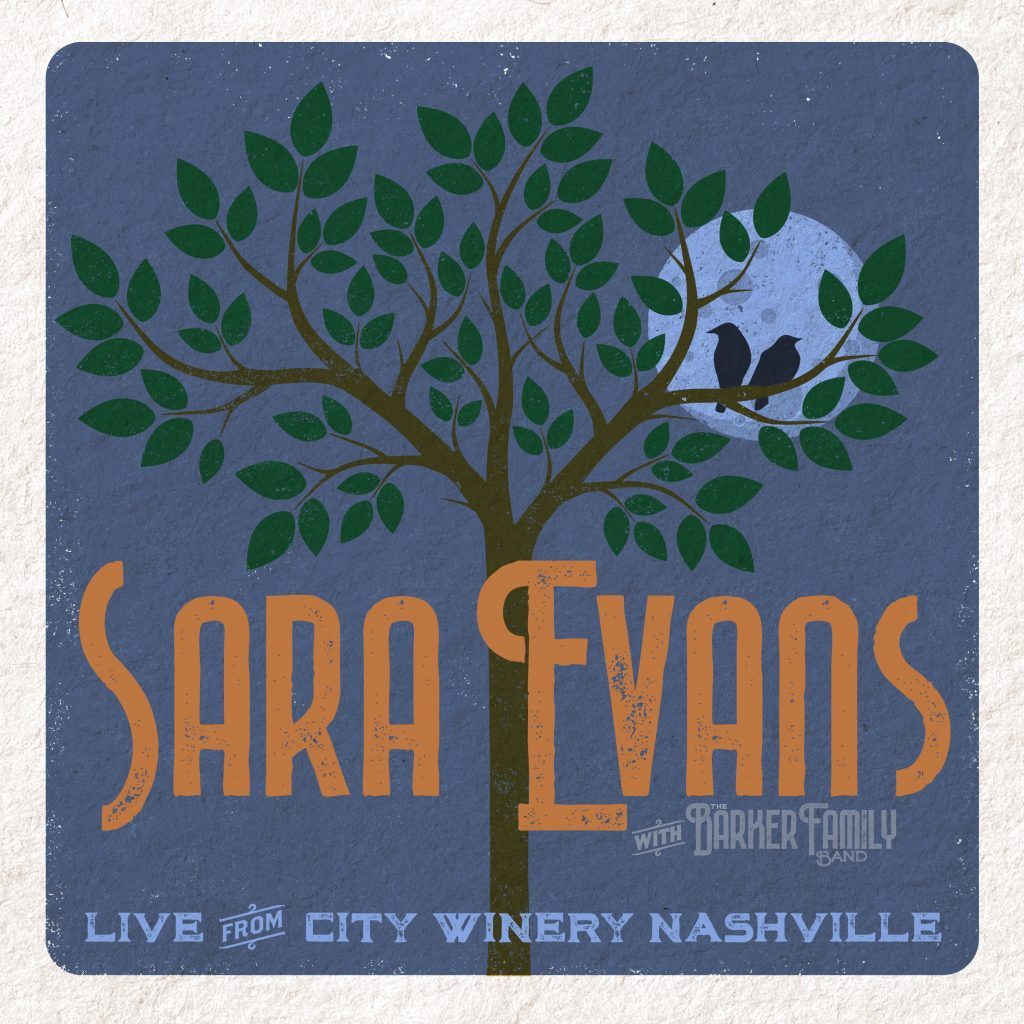 Sara Evans with the Barker Family; Cover art courtesy of Monarch Publicity