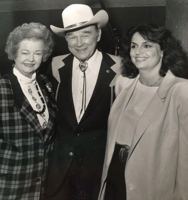Susan Nadler with Roy Rogers; Photo courtesy of Shady Ladies of Music City