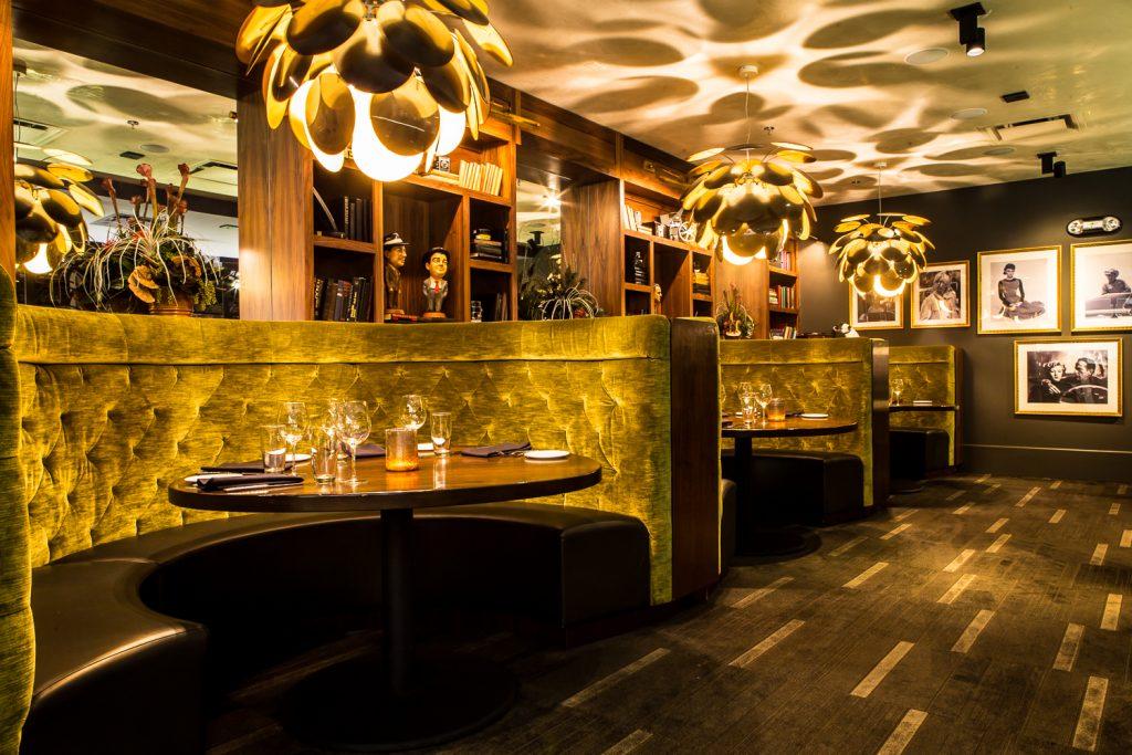 Sinema Restaurant + Bar Green Room; Photo credit: Anthony Matula