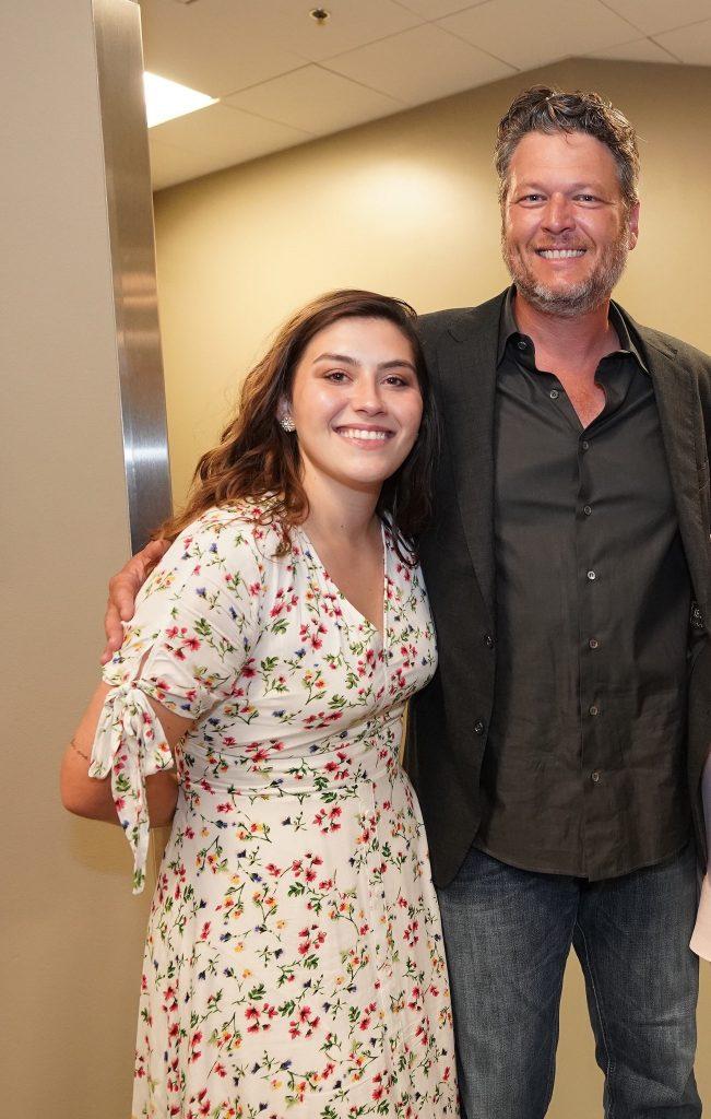 Blake Shelton and Earl Thomas Conley's daughter, Erinn Scates; Photo credit: Donn Jones
