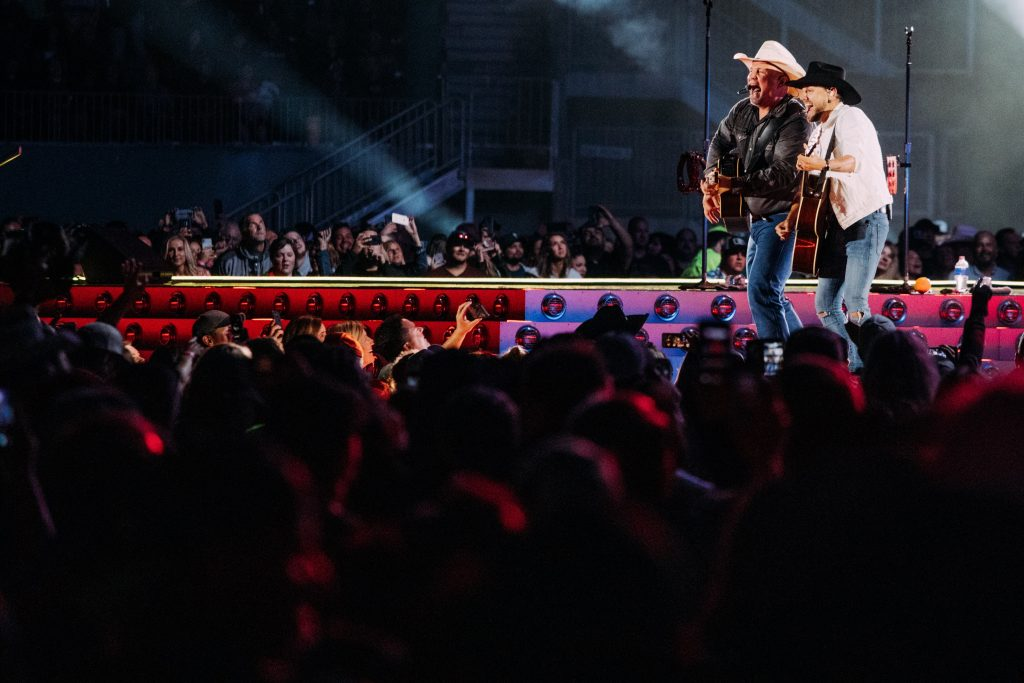 Garth Brooks and Brett Kissel; Photo credit: Brandon Ferguson