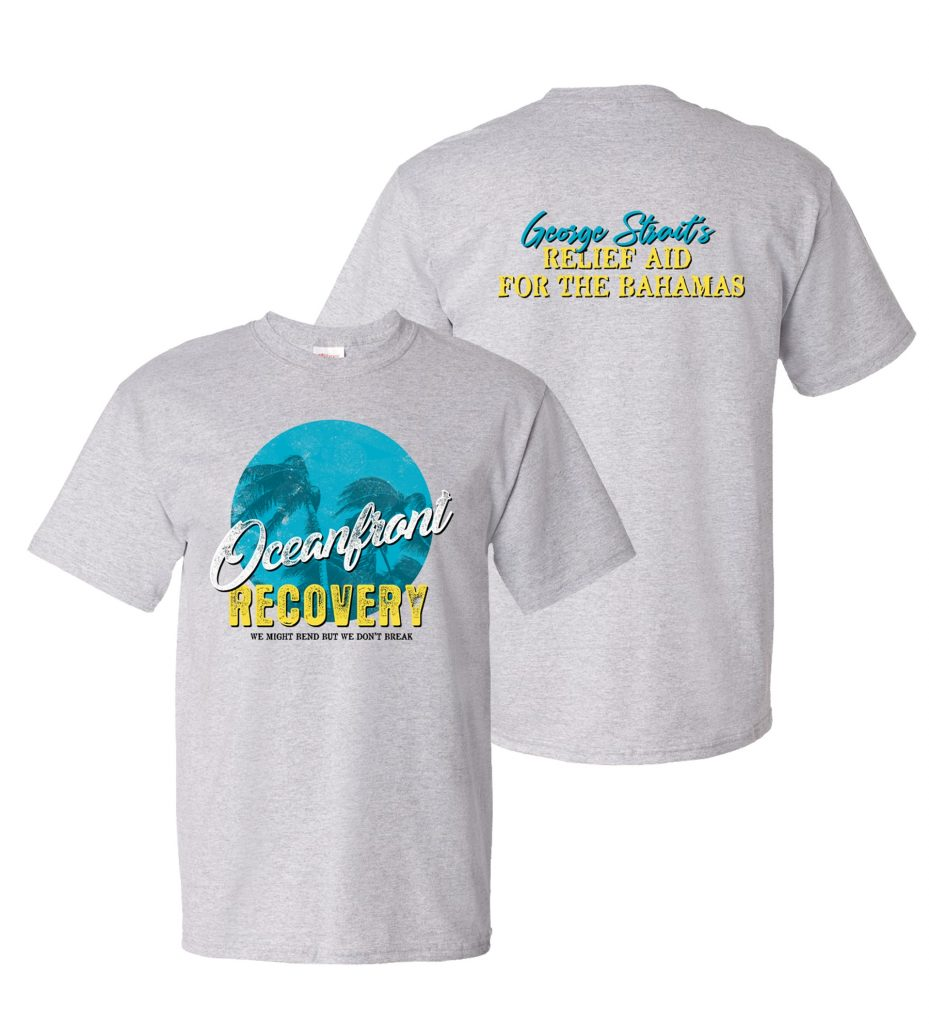 George Strait's Exclusive T-Shirt Benefitting the Abaco Relief Fund; Photo courtesy of Essential Broadcast Media
