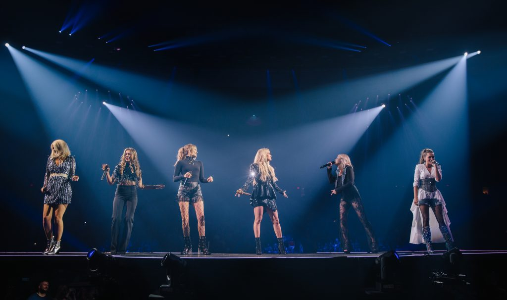Runaway June, Carrie Underwood and Maddie & Tae; Photo Credit: Jeff Johnson