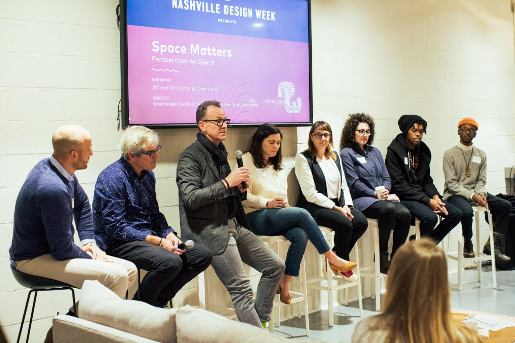 Nashville Design Week Space Matters Panel at Alfred Williams & Company; Photo credit: Daniel Meigs
