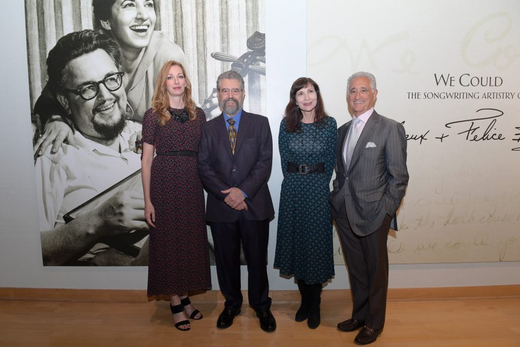 NASHVILLE, TENNESSEE - SEPTEMBER 26: (L-R) Lisa Purcell, Dane Bryant, Brenda Colladay and Del Bryant attend the grand opening of We Could: The Songwriting Artistry of Boudleaux and Felice Bryant at Country Music Hall of Fame and Museum on September 26, 2019 in Nashville, Tennessee. (Photo by Jason Kempin/Getty Images for Country Music Hall of Fame and Museum)