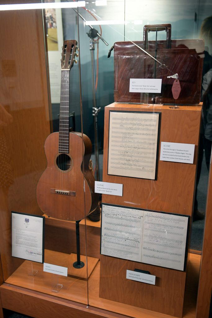 NASHVILLE, TENNESSEE - SEPTEMBER 26: Artifacts seen during the grand opening of We Could: The Songwriting Artistry of Boudleaux and Felice Bryant at Country Music Hall of Fame and Museum on September 26, 2019 in Nashville, Tennessee. (Photo by Jason Kempin/Getty Images for Country Music Hall of Fame and Museum)